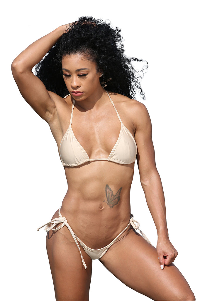 Sassy Assy  Nude Bikini Set With Whale Tail Thong Bottom