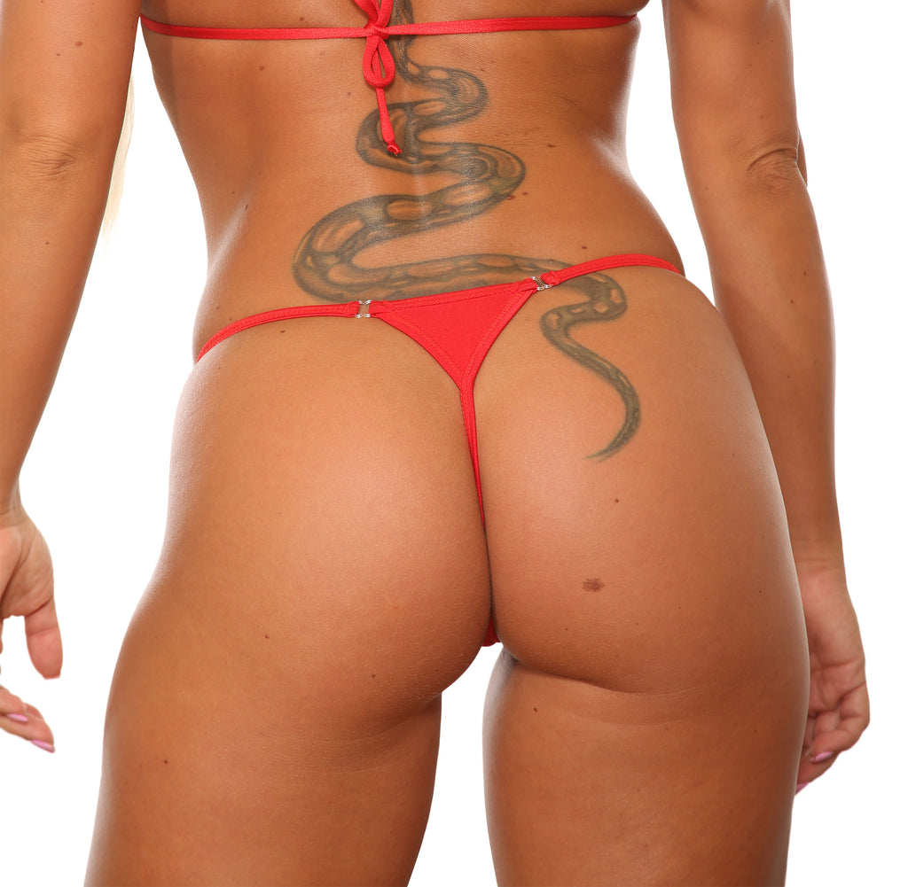 Red Dancers G String Stripper Clothing