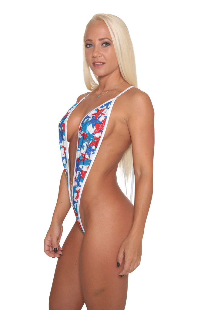 Red,White And Blue Slingshot Bikini Patriotic Collection