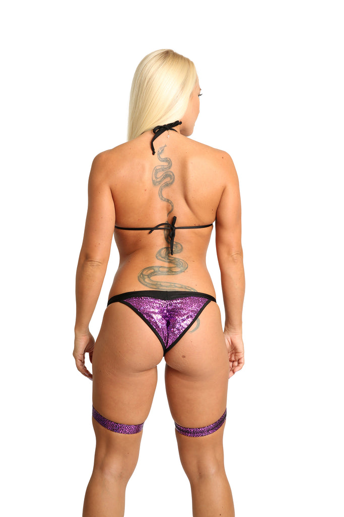 Sassy Bikini Set With Attached Garters Stripper Outfit
