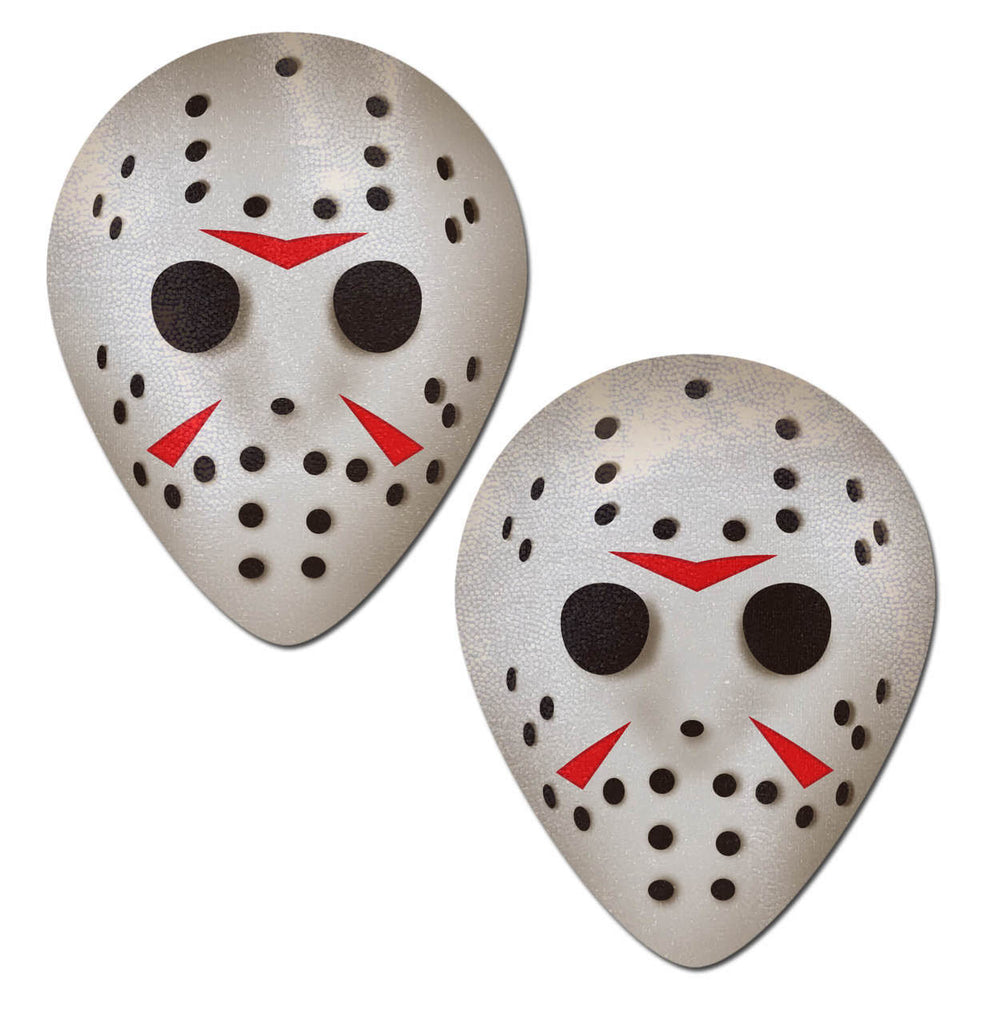 Scary Halloween Hockey Mask Nipple Covers