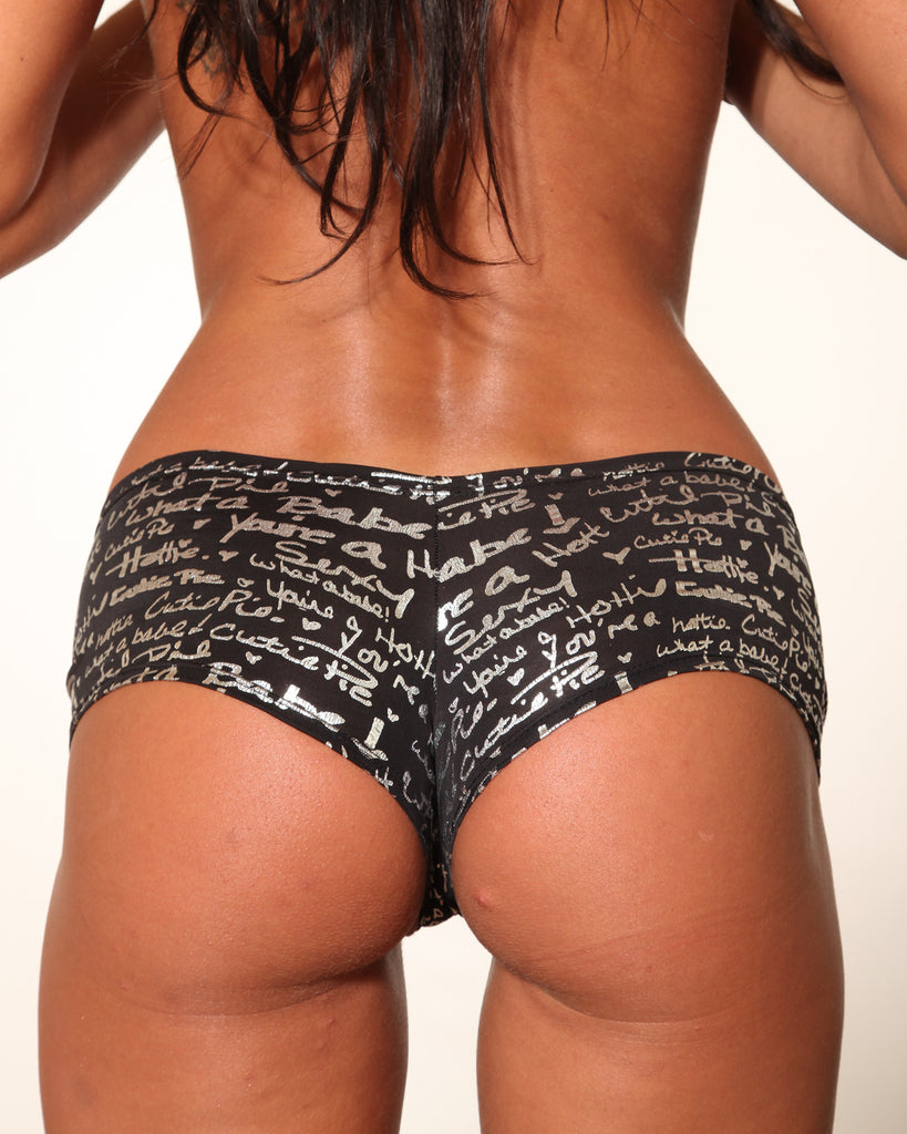 Graffiti Print BASIC BOOTY SHORT-Stripper Clothing