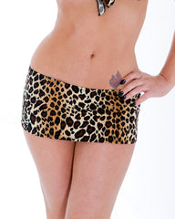 Dare To Bare Sassy Assy Leopard Print Mini Skirt Stripper Clothing