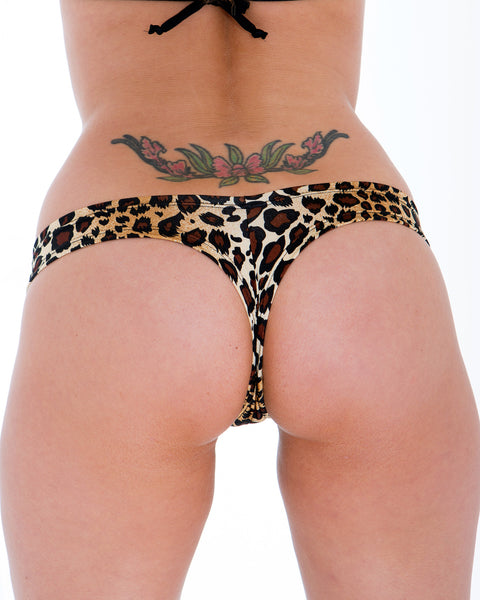 Extreme Leopard Print Mini Booty Shorts-Stripper Clothes