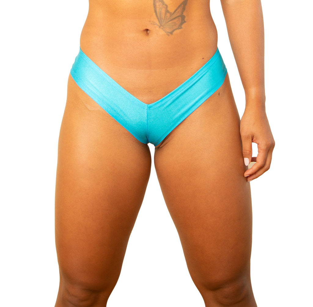 Turquoise Medium Booty Shorts  Strippers Clothes