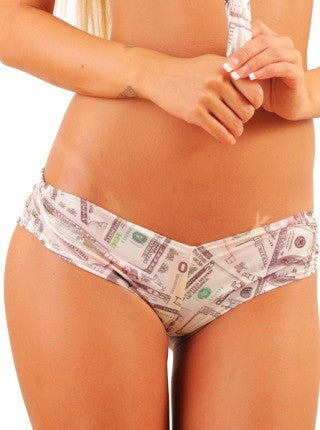 Pole Dancers Medium Booty Short With Money Print