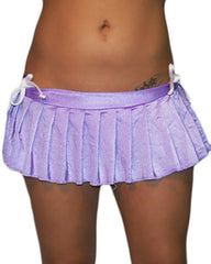 Sexy Pleated Lycra Mini Skirt-Stripper Mini Skirts