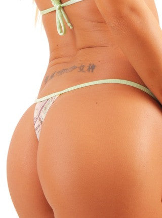 Basic Money Print Pole Dancers Thong
