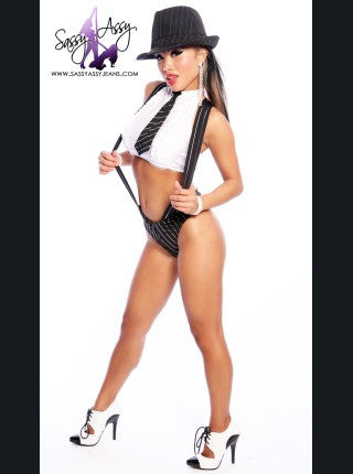 Gangster Girl 3 Piece Costume-