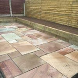Indian Sandstone Riven Installed