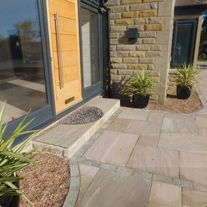 Raj Green Sandstone Installed