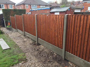 New Closeboard Fence Installed includes new end posts and kick boards