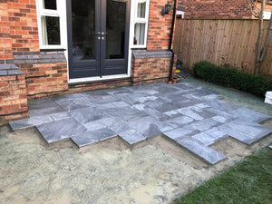 Porcelain Paving Installed