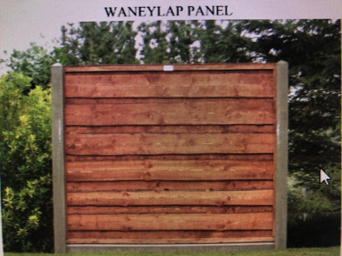 Fence Panel Installed Waneylap