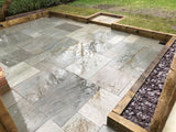 Sandstone Paving Kandla Grey Installed