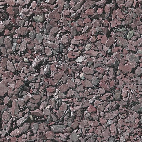 Plum Slate Gravel Installed