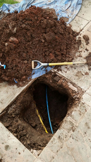 Installation of new MDPE water main per meter