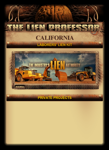 California Laborers' Lien Kit
