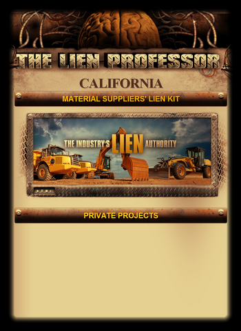 California Material Suppliers' Lien Kit