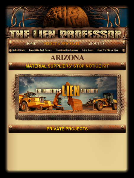 Arizona Material Suppliers' Stop Notice Kit