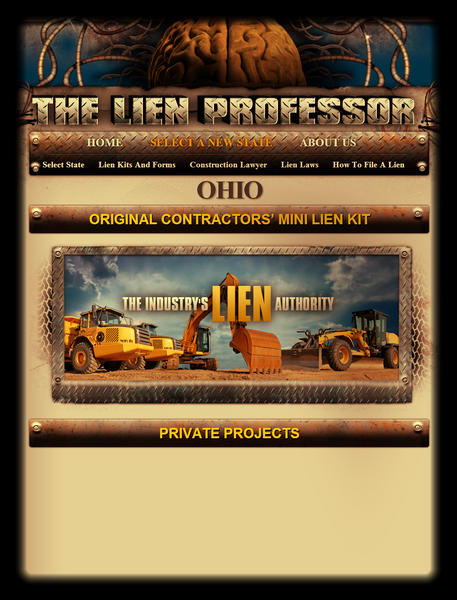 Ohio Original Contractors' Mini Lien Kit