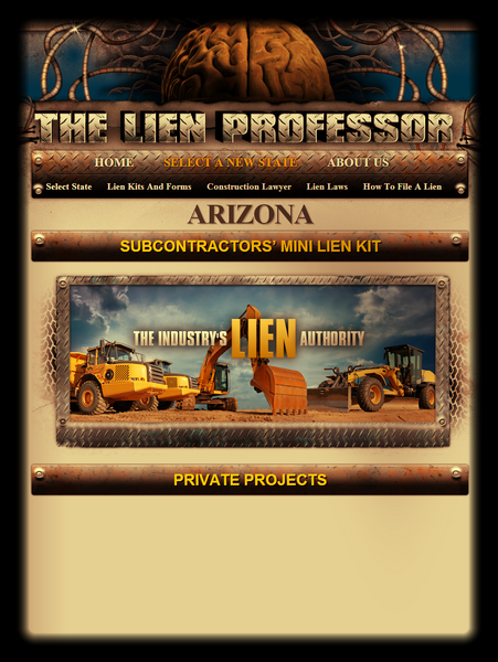 Arizona Subcontractors' Mini Lien Kit