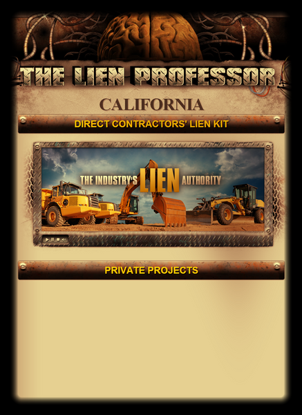 California Direct Contractors' Lien Kit