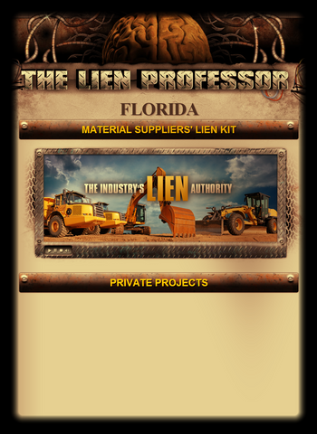 Florida Material Suppliers' Lien Kit