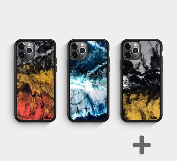 Resin phone cases
