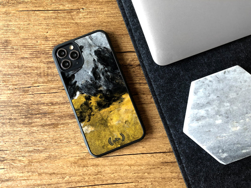 Wood and resin phone case