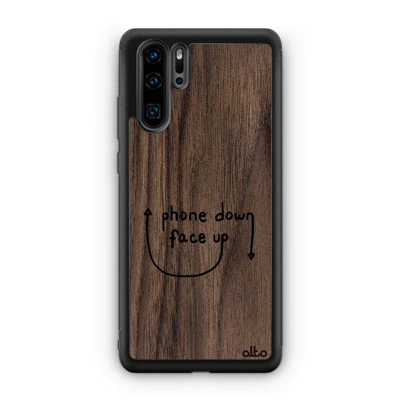 Phone Down Face Up - Walnut (Huawei)