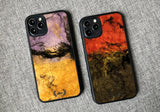 Wood resin phone case