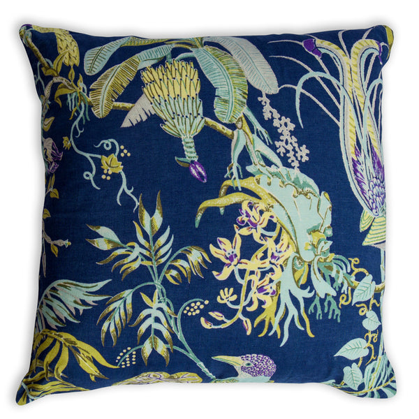 Paradise Ultramarine Cushion Cover – 60 x 60