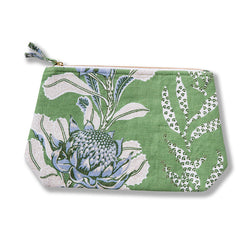 Imperial Waratah Forest Heavyweight Linen Wash Bag