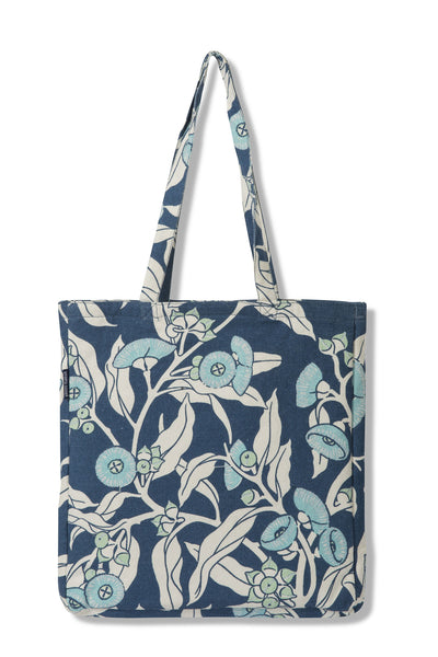Mallee Gum Indigo Tote - Poly Outdoor Fabric