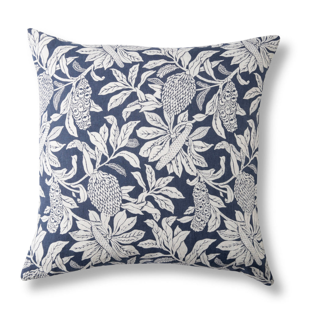 Pure Linen Cushion Cover, Banksia Denim Blue - 50 x 50cm