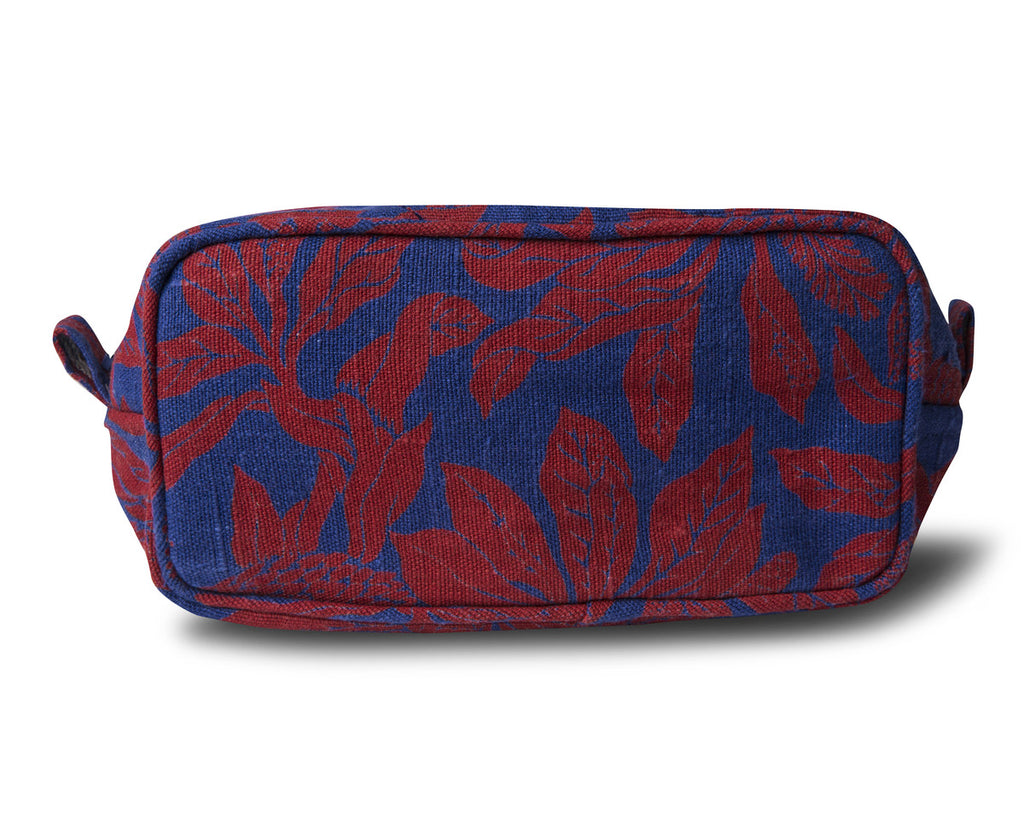 Linen Make Up Pouch, Banksia - Red