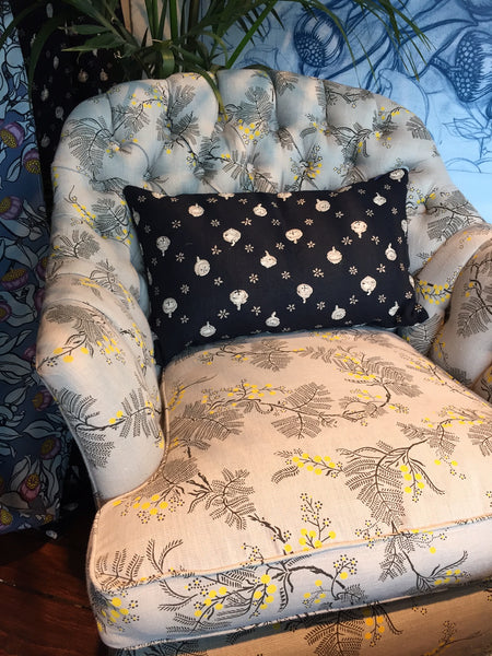 Blackwattle Grey Armchair and Footstool