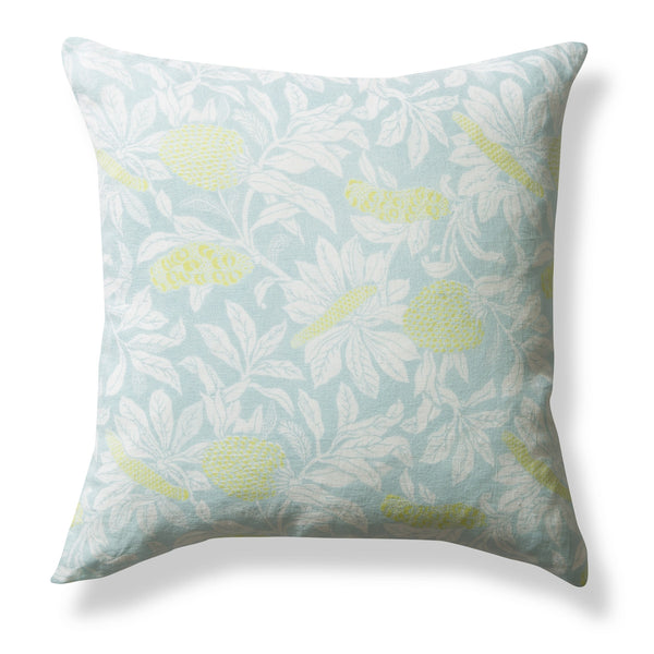 100% Linen Cushion Cover, Banksia - Powder Blue, 50x50cm