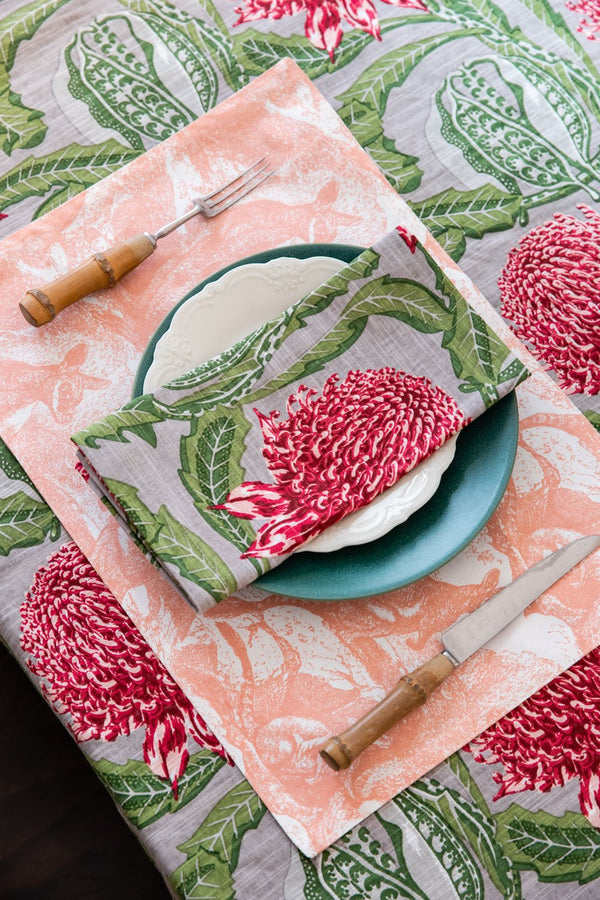 Wallaby Shell Coral Placemats (set of 4)