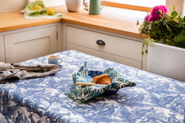 Wallaby Navy Blue Tablecloth