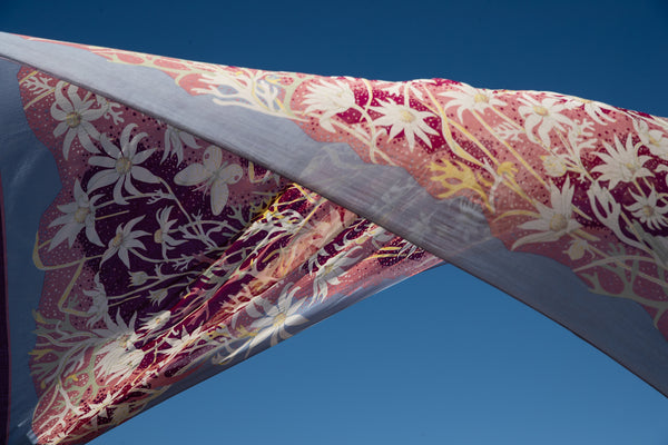 Flannel Flower Plum Sarong