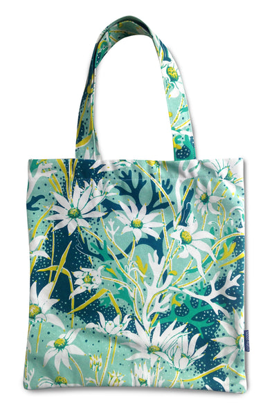 Flannel Flower Canvas Tote Bag