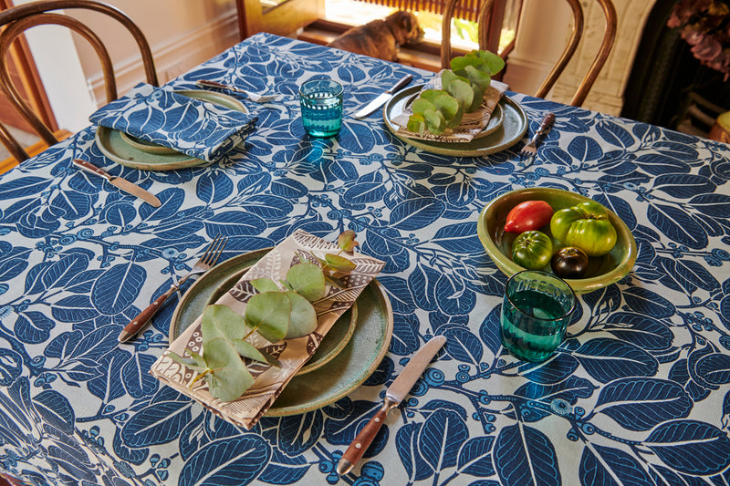 Stringybark Indigo Tablecloth
