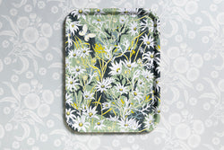 Flannel Flower Serving Cake Drinks Party Tray