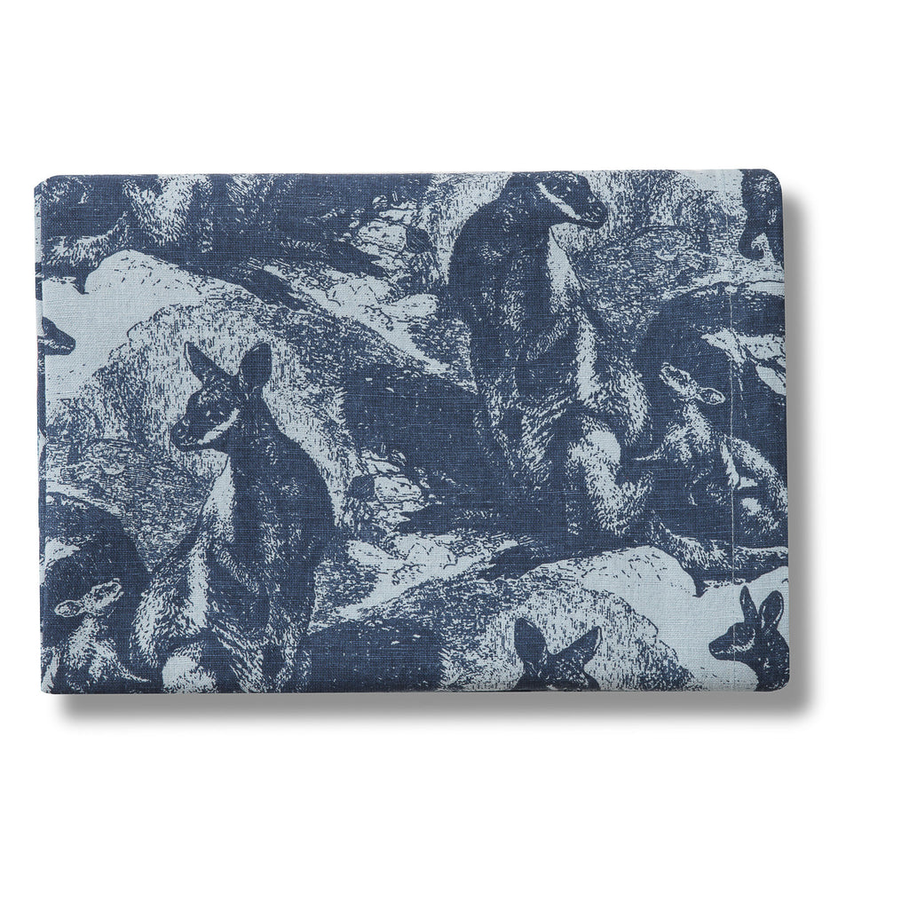 Rock Wallaby Indigo Lightweight Linen/Cotton Tablecloth