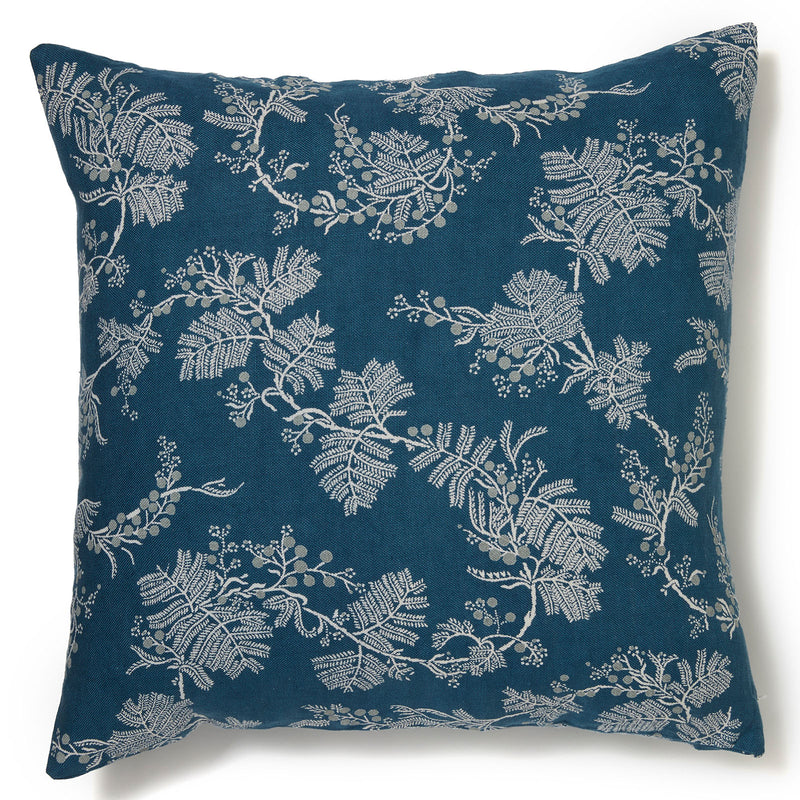 Wattle Blue Denim Cushion Cover - 60 x 60