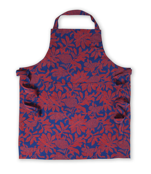 100% Linen Apron, Banksia - Red
