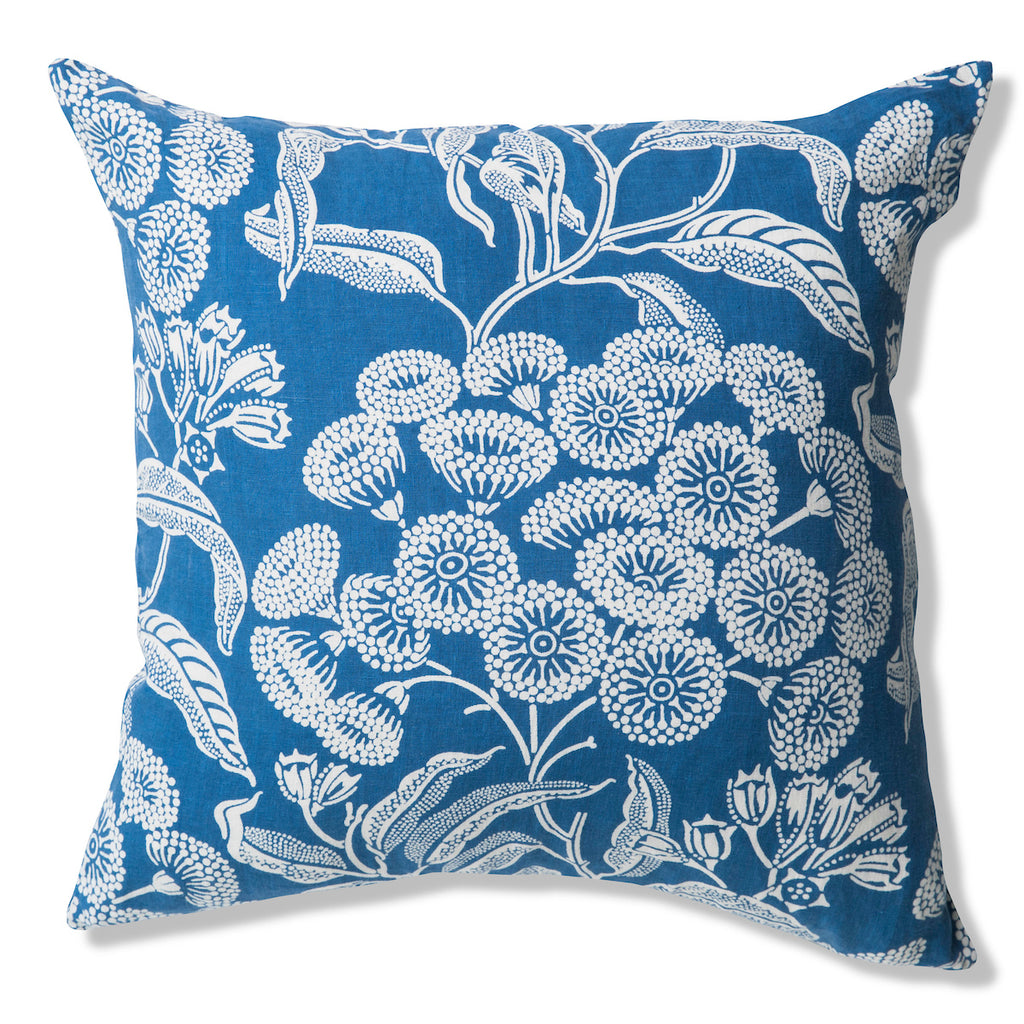 Angophora Blue Pure Linen Cushion Cover 60x60