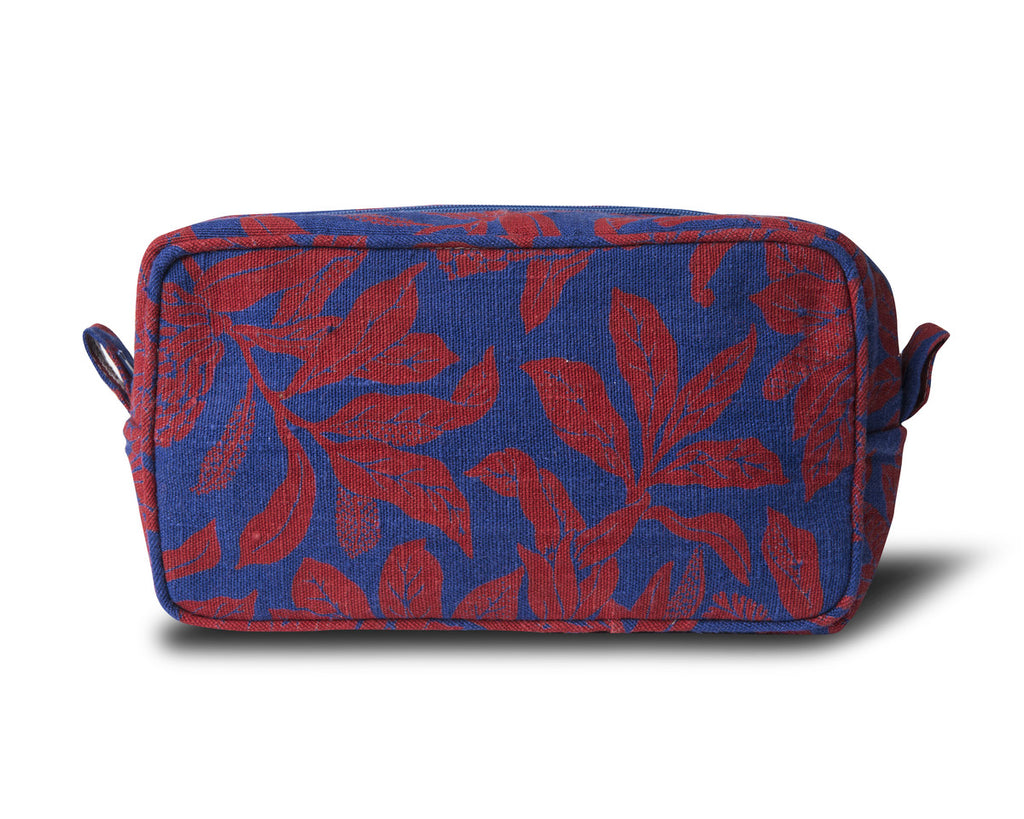 Linen Wash Bag, Banksia - Red